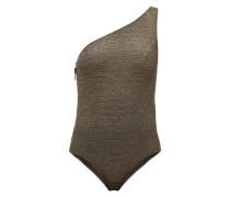 Arden One-shoulder Metallic Swimsuit