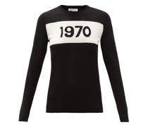1970-intarsia Wool Sweater