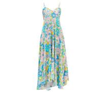 Mila Floral-print Twill Midi Dress