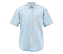 Avery Short-sleeved Denim Shirt