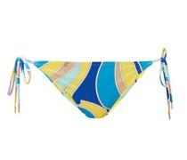 Side-tie Quirimbas-print Bikini Briefs