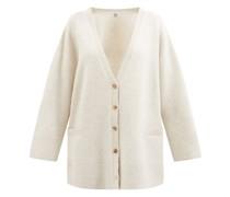V-neck Oversized Wool Cardigan