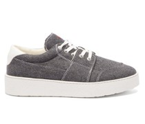 De Caur-embroidered Flannel Trainers
