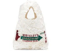 Wrigleys Sequinned Recycled-satin Tote Bag