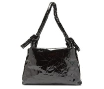 Lady Knotted-handle Lacquered-leather Bag