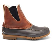 Barn Leather And Shearling Boots