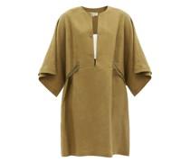 Thebes Mini Linen Kaftan Dress