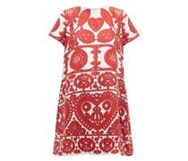 Swing Embroidery-print Silk Dress