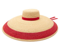 Saturn Striped-raffia Hat