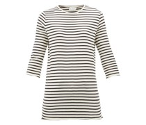 Half-sleeve Striped Cotton-jersey T-shirt