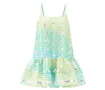 Mirror-embroidered Cotton Mini Dress