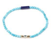 Turquoise & 14kt Gold Beaded Bracelet