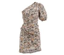 Esthera Asymmetric Printed Cotton-poplin Dress