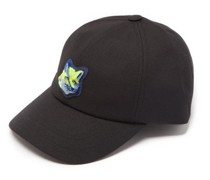 Neon Fox-head Logo-patch Cotton-blend Cap