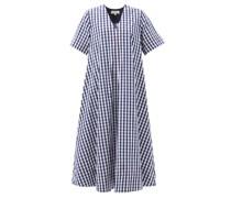Bessie A-line Gingham Cotton Dress