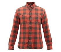 Farrell Checked Brushed-cotton Shirt