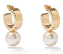 Faux-pearl And Metal Hoop Earrings