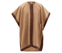Pycombe Leather-trimmed Cashmere Cape