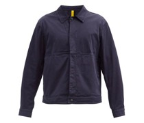 Frog-print Cotton-blend Twill Jacket