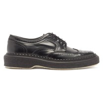 Crepe-sole Leather Brogues