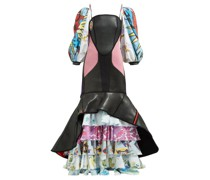 Scuba Suit & Bedsheet Ruffled Gown