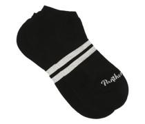 Sprint Striped Egyptian Cotton-blend Trainer Socks