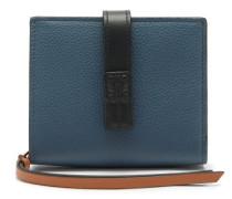 Anagram-debossed Grained-leather Wallet