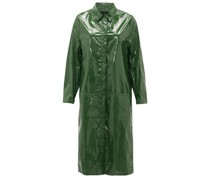Point-collar Pvc Raincoat