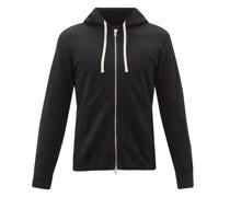 Zip-through Cotton-jersey Hooded Sweatshirt