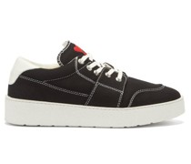 De Coeur-embroidered Canvas Trainers