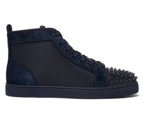 Louis Spike-embellished High-top Suede Trainers
