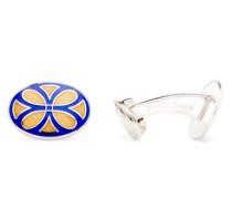 Enamel & Sterling-silver Cufflinks