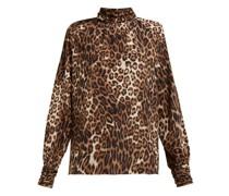 Alana Leopard-print Silk Shirt