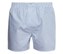 Candy-striped Cotton-poplin Boxer Shorts