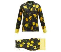 Floral-print Silk-satin Pyjamas