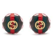 Gg Web Stripe Crystal-embellished Earrings