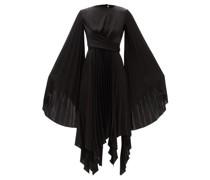 Asymmetric Pleated Crepe Dress