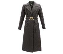 Sally Belted Quilted-leather Shirt Dress