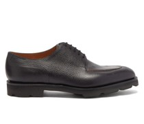 Harlyn Pebbled-leather Derby Shoes