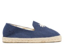 Palm Springs Embroidered Organic-linen Espadrilles
