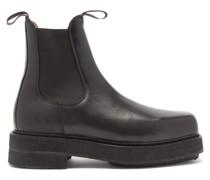 Ortega Chunky Leather Chelsea Boots