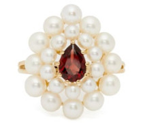 Cotillon Pearl, Garnet & Gold Ring