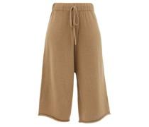 Miter Cropped Alpaca-blend Wide-leg Trousers