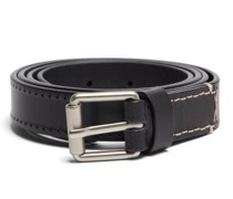Perforated-leather Belt