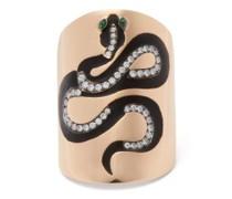 Snake Diamond, Tsavorite & 18kt Rose-gold Ring