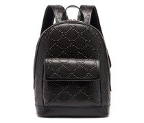 Gg Tennis Leather Backpack