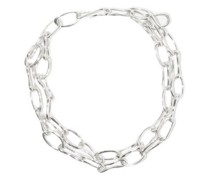 Roman Double Chain-link Sterling-silver Choker