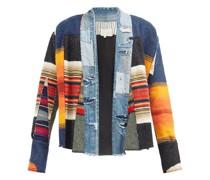 Gl1 Blanket Scrapwork Upcycled Denim & Wool Jacket