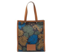 Floral-print Canvas And Leather Tote Bag