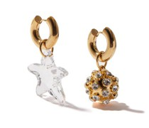 Mismatched 24kt Gold-plated Hoop Earrings